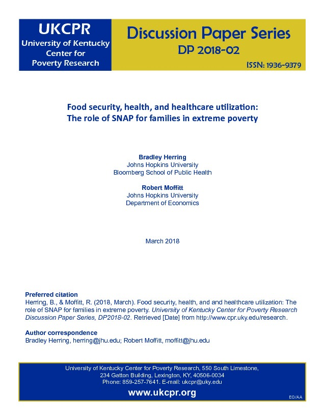 Food security, health, and healthcare utilization: The role